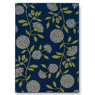 Floral Surry Blue Indoor/Outdoor Area Rug
