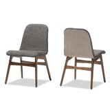 Faulkner Upholstered Side Chair in Dark Gray (Set of 2) by Corrigan Studio®