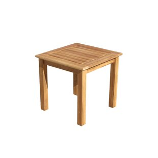 Look for Chancy Courtyard Teak Side Table Reviews