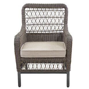 Dogwood Stacking Patio Dining Chair with Cushion (Set of 2)