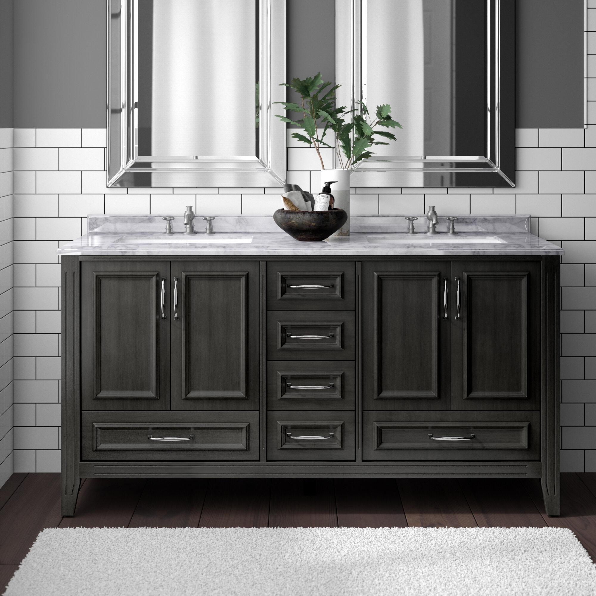Schulenburg 60 Double Bathroom Vanity Set Reviews Birch Lane
