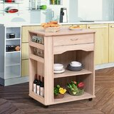 Waukeenah Rolling Island Trolley Ultility Kitchen Cart by Ebern Designs