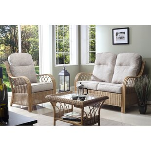 Mercedes 3 Piece Conservatory Sofa Set By Beachcrest Home