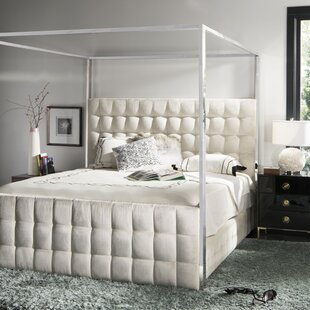 Best Deals Launceston Upholstered Canopy Bed by Mercer41