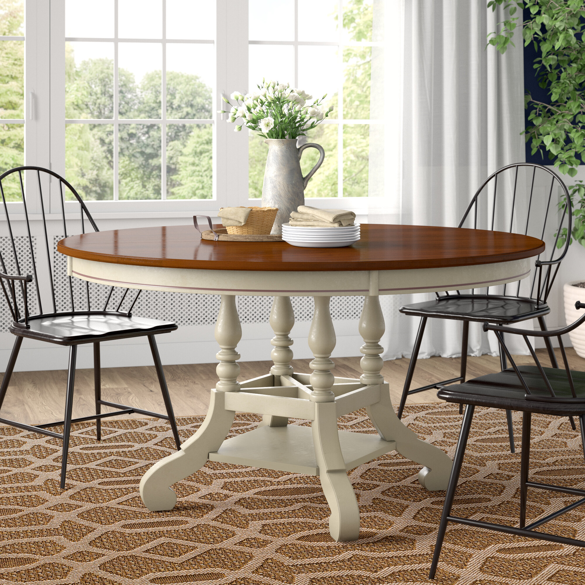 Picture of: Copley Extendable Pine Solid Wood Dining Table Reviews