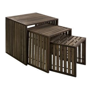 Henriques 3 Piece Nesting Tables by 17 Stories