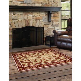 Ashton Classical Burgundy/Dark Beige Indoor/Outdoor Area Rug