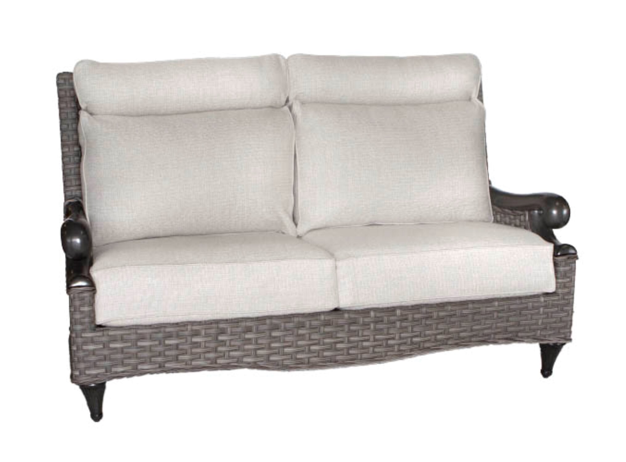 Outdoor Patio Couch Set, Canora Grey Guidi High Back Deep Seating Loveseat With Sunbrella Cushions Wayfair