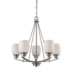 Adalyn 5 Light Shaded Chandelier