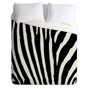 East Urban Home Natalie Baca Zebra Stripes Duvet Set