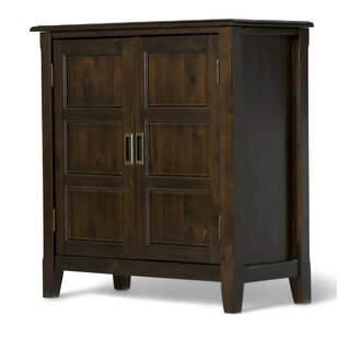 Simpli Home Burlington 2 Door Low Accent Cabinet