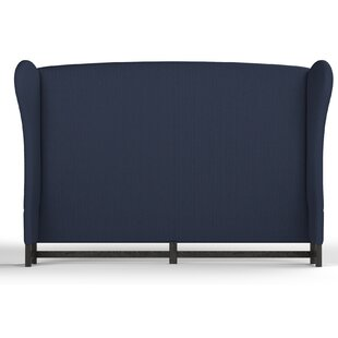 Affordable Augustine Upholstered Wingback Headboard by Canora Grey