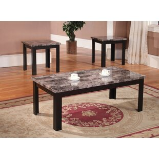Affordable Cecil Marble Top 3 Piece Coffee Table Set By Andover Mills