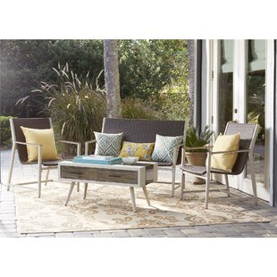 Novogratz Santa Fe 4 Piece Rattan Sofa Seating Group