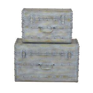 2-tlg. Koffer-Set aus Metall von Home & Haus