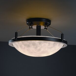 Winslow Clouds Round Semi Flush Mount by Loon Peak
