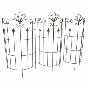 Garance 3 Piece Ornamental Steel Gothic Trellis Set By Fleur De Lis Living