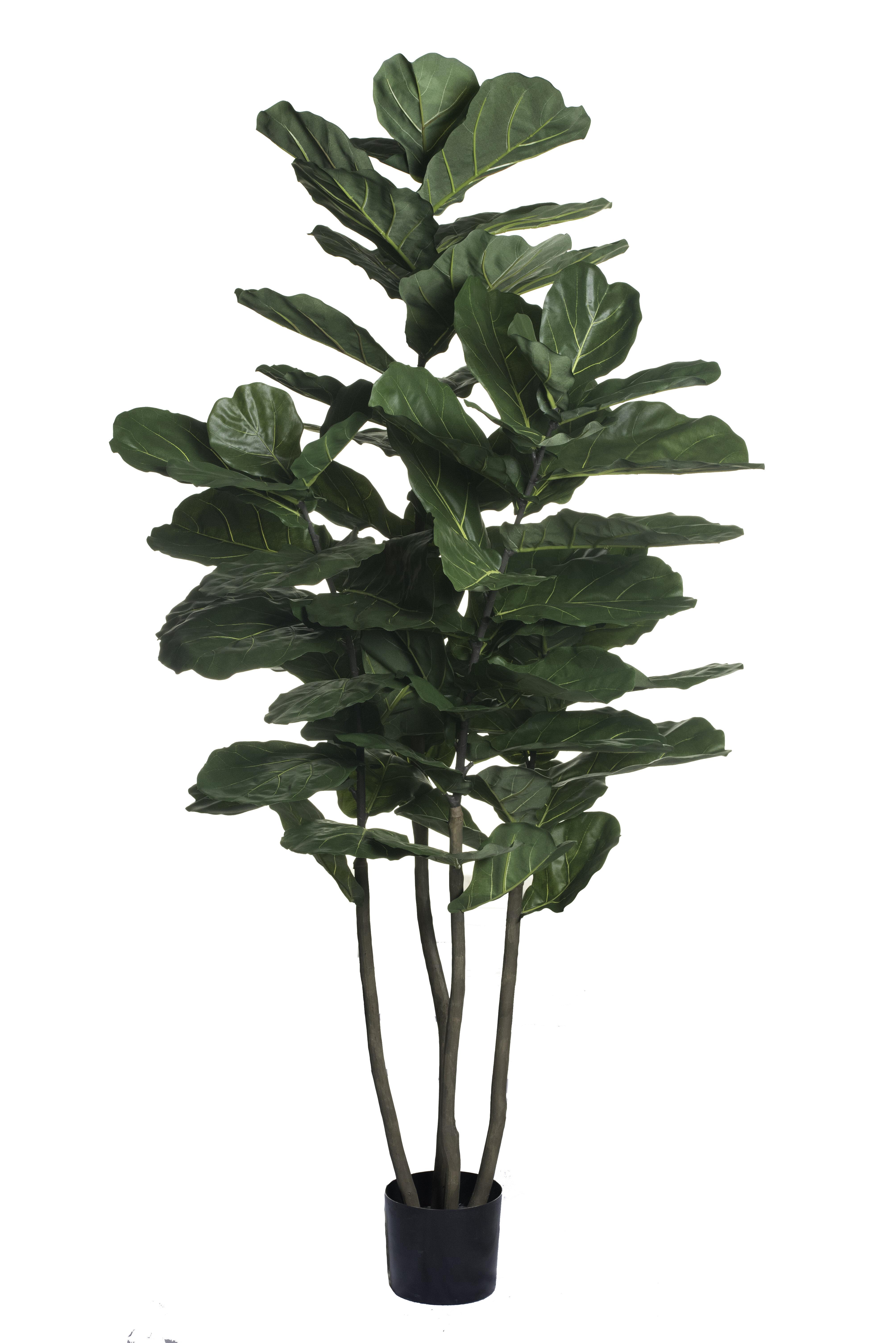 84 Artificial Fiddle Leaf Fig Tree In Pot Liner Reviews Birch Lane