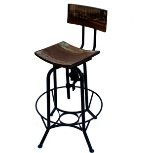 Wallsend Height Adjustable Swivel Bar Stool By Williston Forge