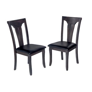 Jesenof 2 Piece Solid Wood Dining Chair (Set of 2) by Red Barrel Studio
