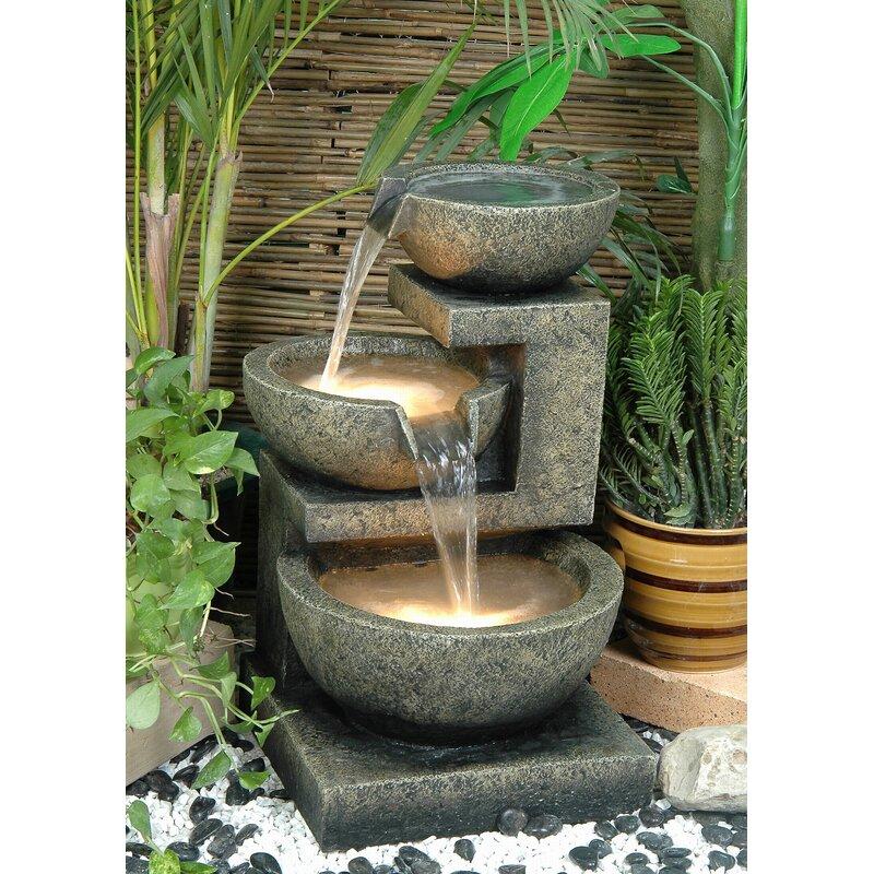 Hi Line Gift Ltd Fiber And Resin Bowl Fountain With Light Reviews Wayfair