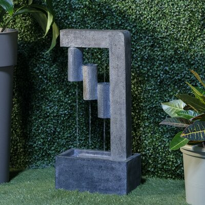 Image of Resin Endurance Fountain with Light Alfresco Home