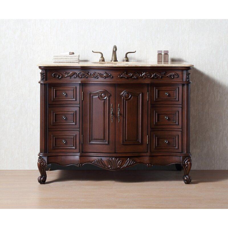 Astoria Grand Parkins 48 Single Bathroom Vanity Set Reviews Wayfair