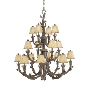Loon Peak Polster 16-Light Shaded Chandelier