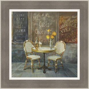 French Cafe Framed Painting Print