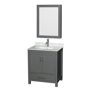 Order Sheffield 30 Single Bathroom Vanity Set with Medicine Cabinet By Wyndham Collection