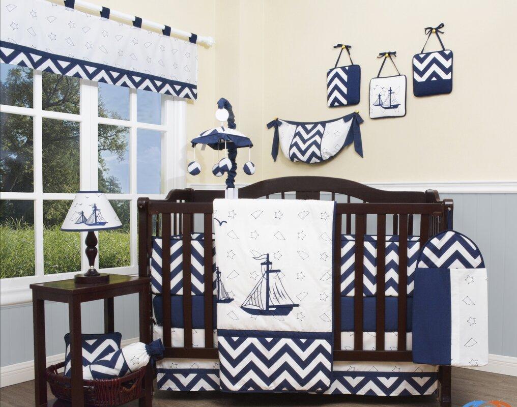 Design Nautical Baby Bedding crib bedding sets youll love wayfair explorer nautical 13 piece set