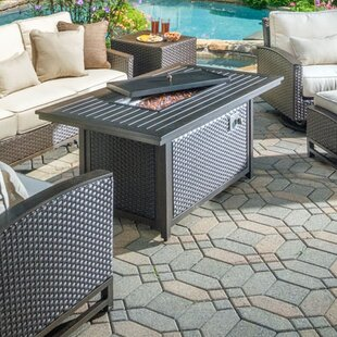 Alfresco Home La Lima Aluminum Propane Fire Pit Table