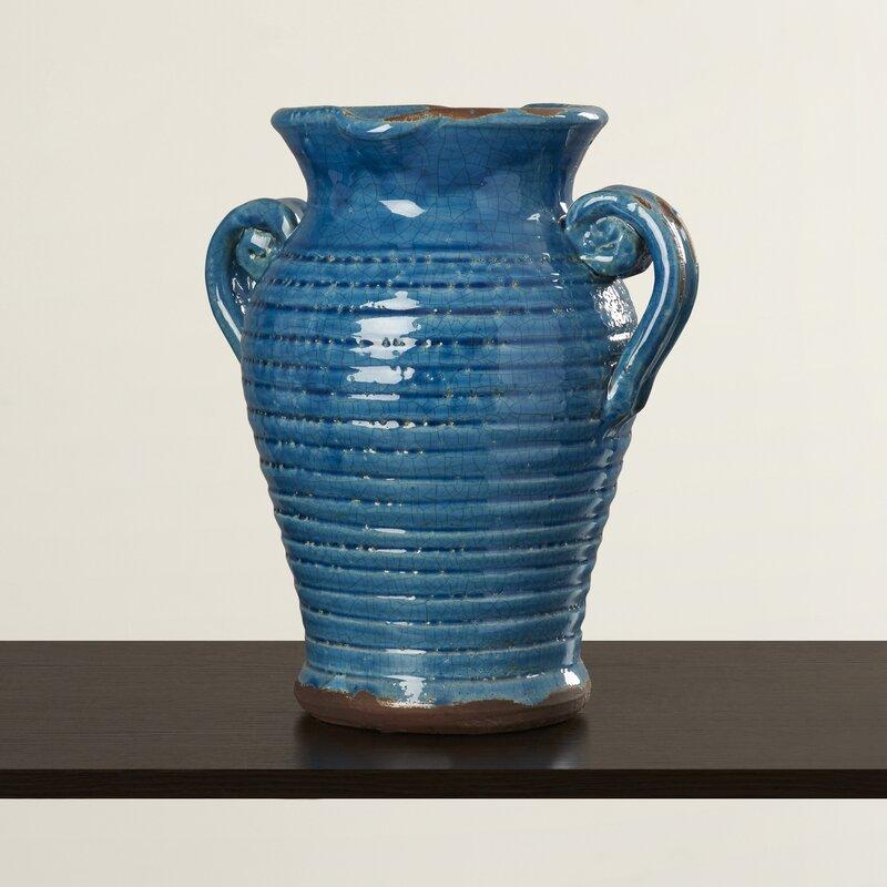 Antique Ceramic Tuscan Vase