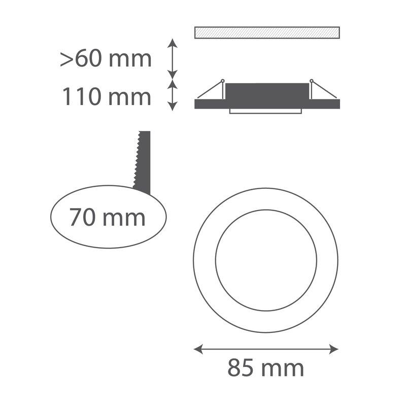 ledlam 8 5 cm led einbaustrahler bewertungen. Black Bedroom Furniture Sets. Home Design Ideas