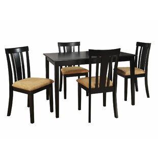 Oneill 5 Piece Slat Back Dining Set Andover Mills