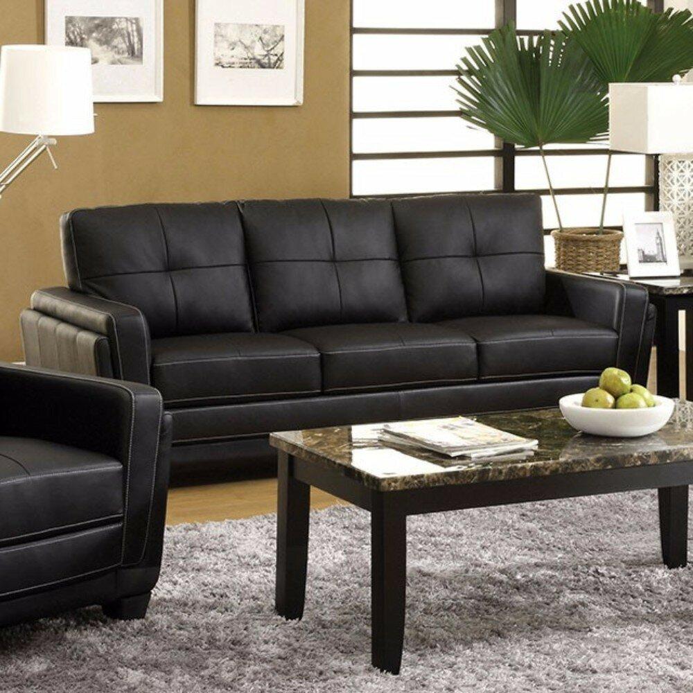 Red Barrel Studio Garica Leatherette Sofa Wayfair