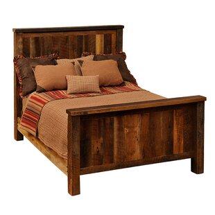 Reclaimed Barnwood Panel Bed