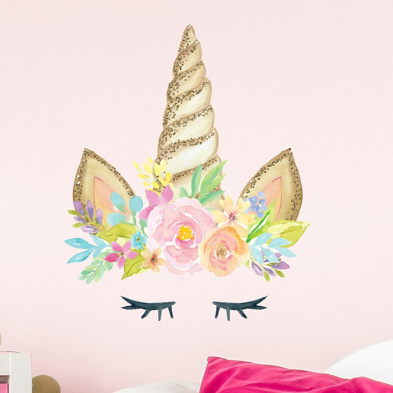 Stickerscape Unicorn Horn Printed Glitter Effect Wall
