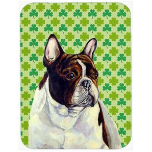 Review Shamrock Lucky Irish French Bulldog St. Patrick's Day Portrait Glass Cutting Board By Caroline's Treasures