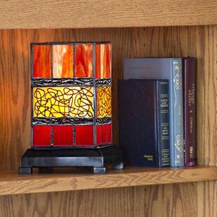 Fleur De Lis Living Crandell Stained Glass Hurricane 9.63
