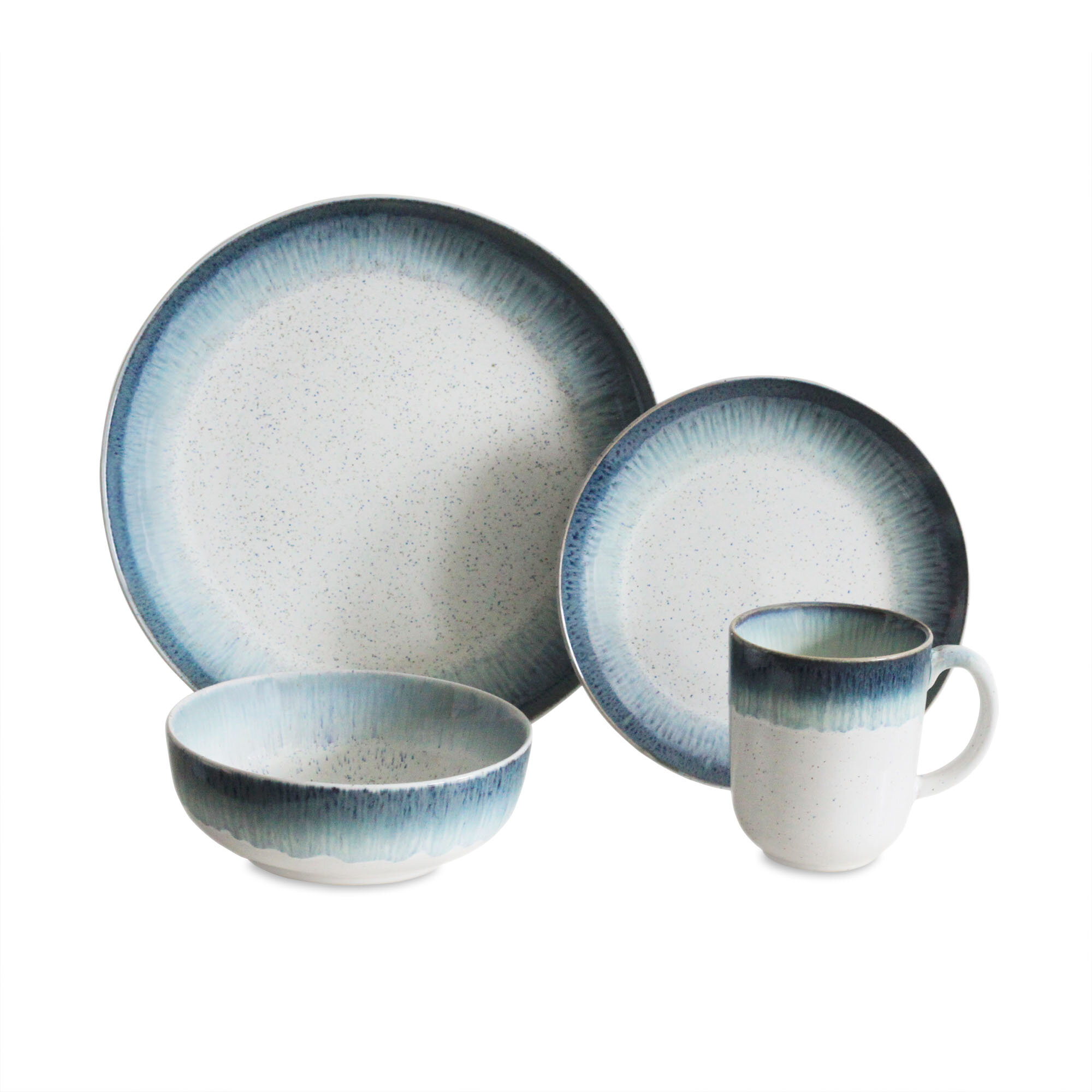 sc 1 st  Wayfair & Baum Marina 16 Piece Dinnerware Set Service for 4 u0026 Reviews | Wayfair