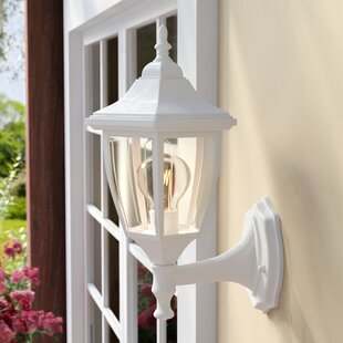 Charlton Home Slusser 1-Light Glass Shaded Outdoor Wall lantern