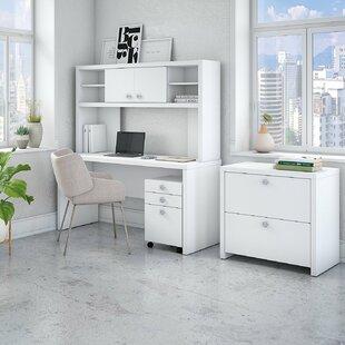 Kathy Ireland Office by Bush Echo 5 Piece Desk Office Suite