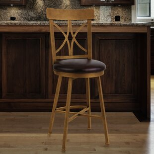 Clark 26 Swivel Bar Stool by Fleur De Lis Living
