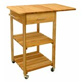 Nedmond Kitchen Cart with Butcher Block Top by Winston Porter