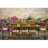 Freese 9 Piece Teak Dining Set with Cushions