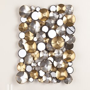Metal Wall Accents glam wall accents you'll love | wayfair
