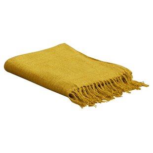 09045129f6 Light Yellow Throw Blanket