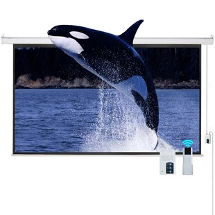 16:9 HD TV Motorized White 100