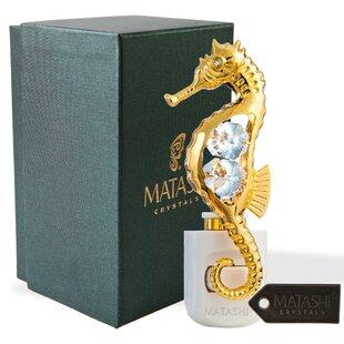 Matashi Crystal 24K Gold Plated Crystal Studded Sea Horse LED Night Light